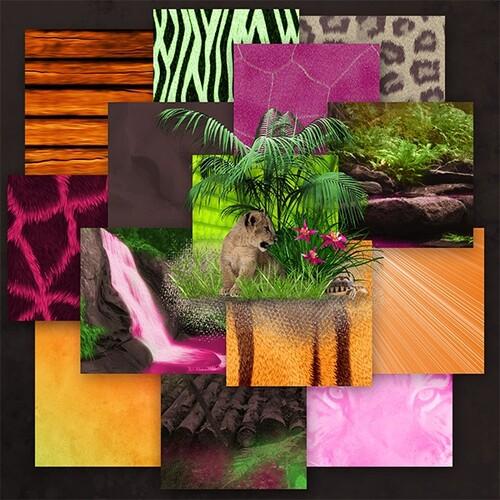 Kit Jungle's Wildlife 2ème partie une collab de Josycréations, Desclics et Angie