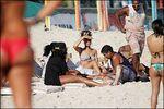 Rihanna à la plage au Brésil