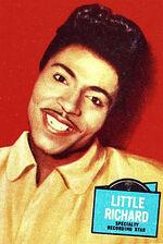 1957 - Little Richard, de son vrai nomRichard Wayne Penniman, est unpianiste,interprète etacteur américain, né le5 décembre 1932. Il est l'un des créateurs durock'n'roll de la fin desannées 1950.