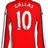 William GALLAS : Maillot porté ARSENAL en 2009.2010.