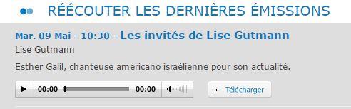 Esther galil sur radio judaique fm