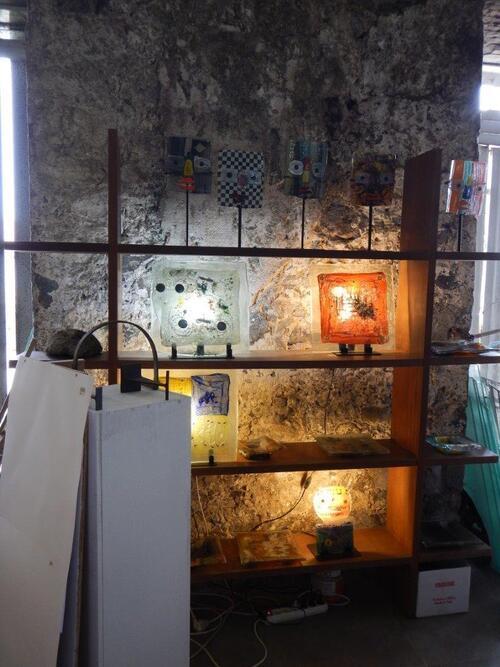 Visite de l'atelier de Robert Manscour.