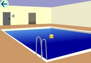Escape from an indoor swimming pool