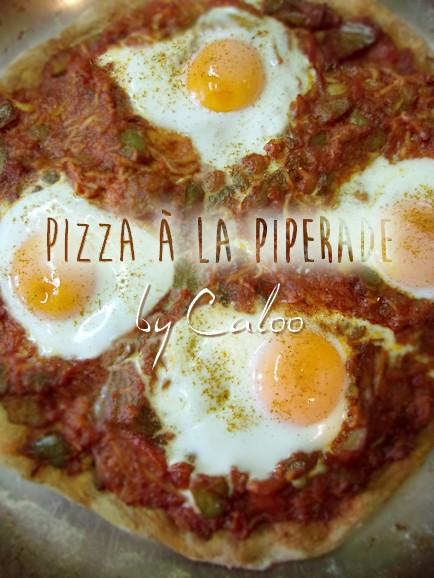 Pizza à la piperade