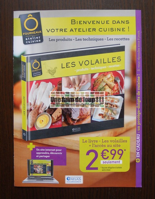 O Fourneaux atelier cuisine - Editions Atlas - Septembre 2012