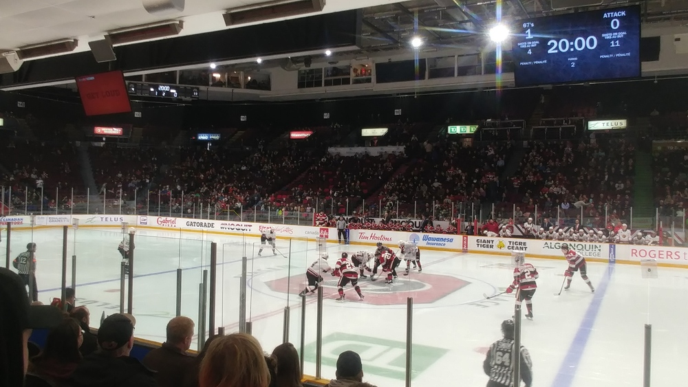 First game of the Ottawa 67's in 2020: Owen Sound Attack versus Ottawa 67's on January 12th 2020