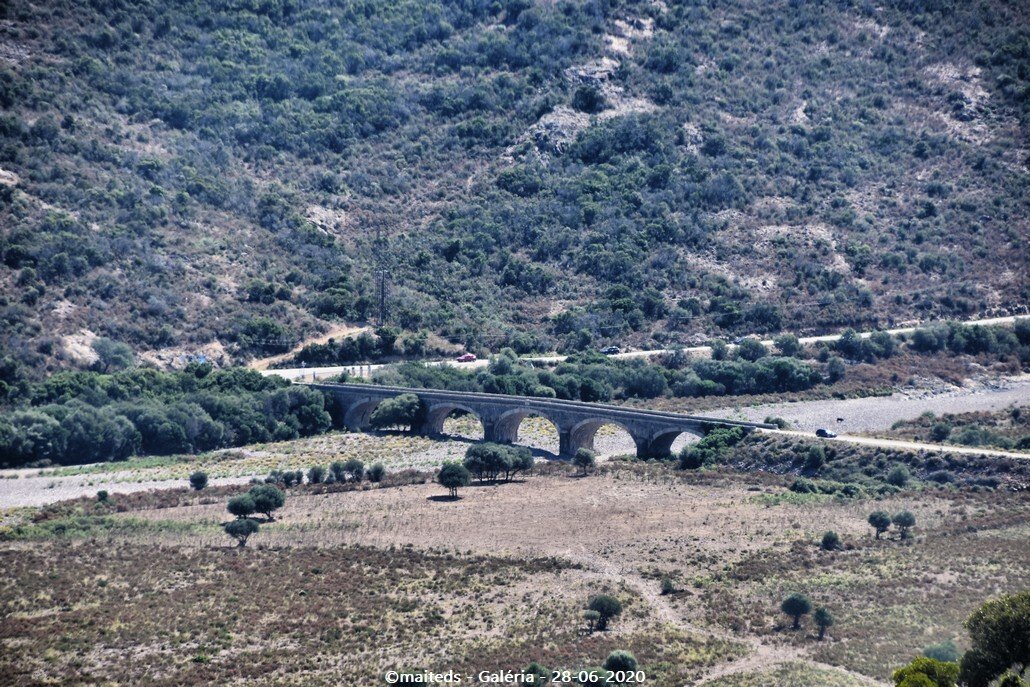 Pont des 5 arcades de Galéria depuis le sentier de Tuarelli