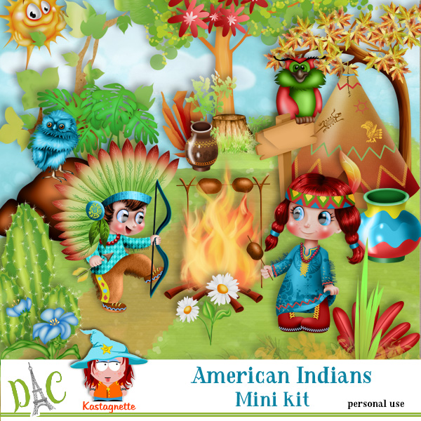 American Indians Mini kit by Kastagnette