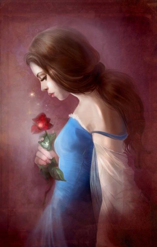 La femme comme une fleur