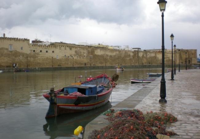 Embouchure du port de pêche de Bizerte