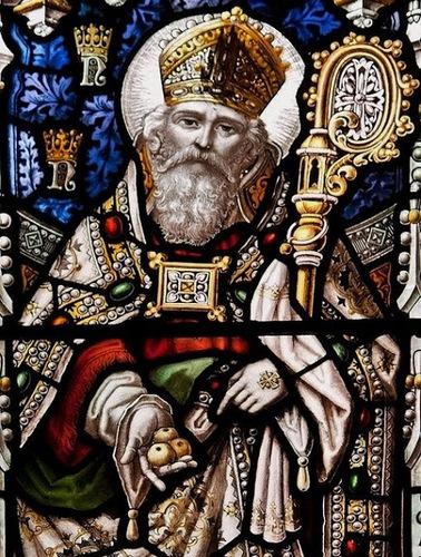 Saint Nicolas de Myre - vitrail de la cathédrale de Newcastle (détail)