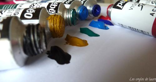 J'ai testé le kit de peintures acryliques Pébéo