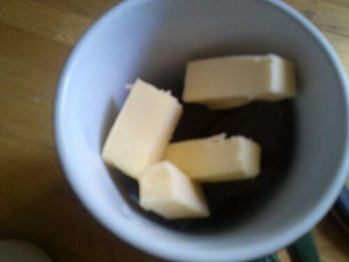 pour les Gourmand..un mug cake chocolat noisette