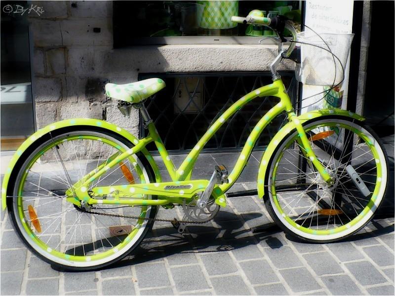 Mon vélo vert à p'tits pois ...