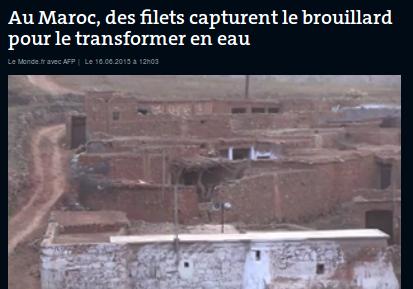 Des filets à brouillard pour l'accès à l'eau dans le djebel marocain