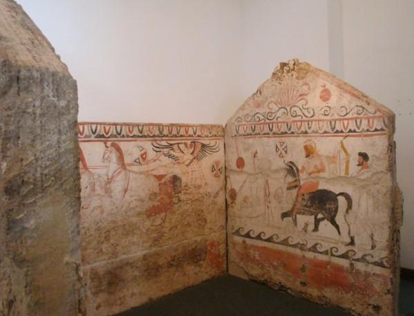Paestum, tombe peinte d'époque lucanienne 7