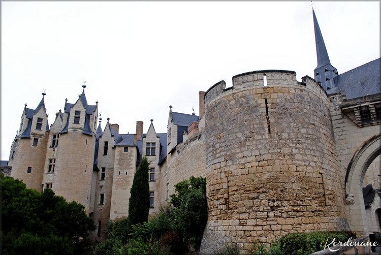 Photos de l'entrée du château de Montreuil Bellay