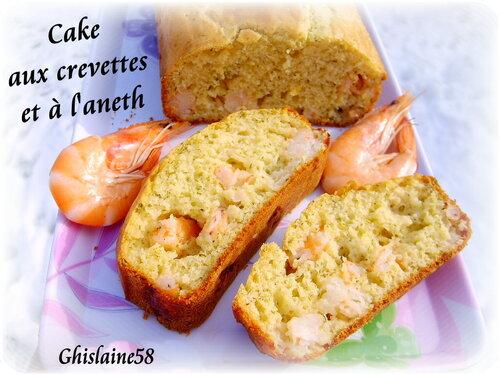 Cake aux crevettes et à l'aneth