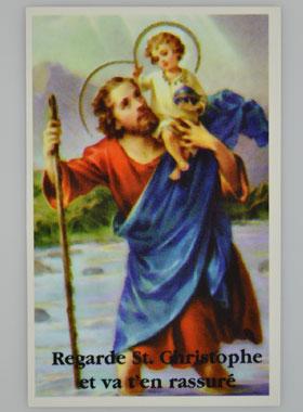 Carte de prière Saint Christophe | La Boutique des Chrétiens