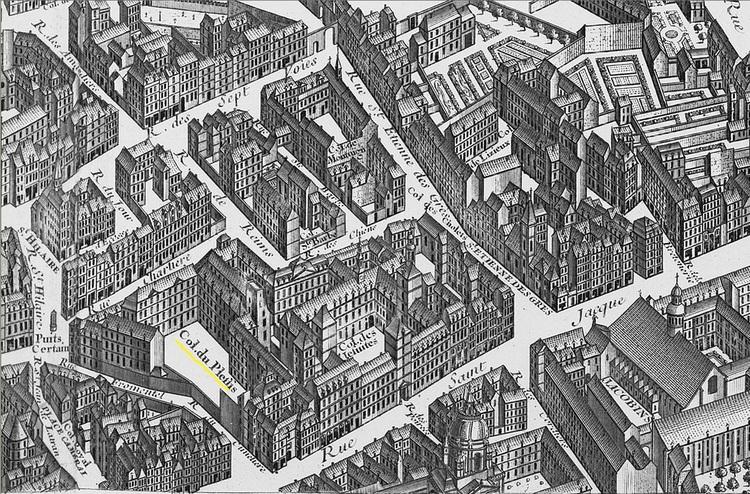 Le collège du Plessis sur le plan de Turgot de 1739
