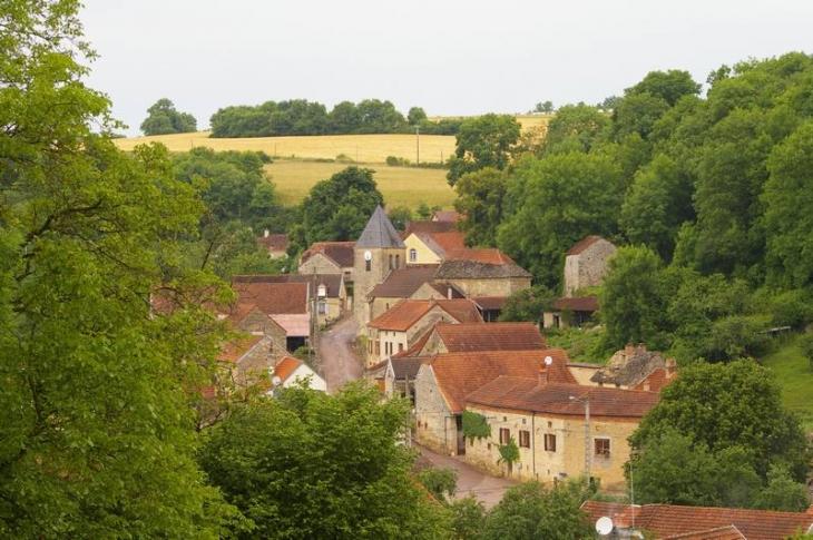 Vue depuis la route de lucenay - Fresnes