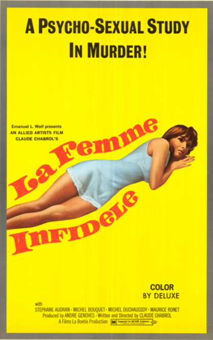 LA FEMME INFIDELE BOX OFFICE USA 1970