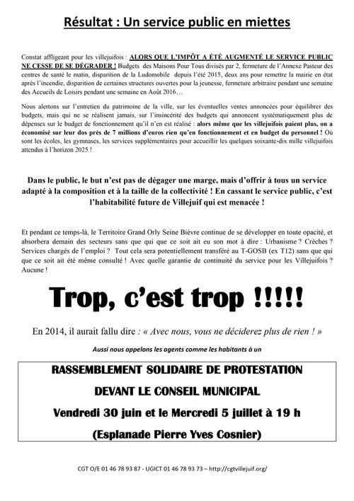 SOLIDAIRES et MOBILISE-E-S avec les agents de la ville de Villejuif!