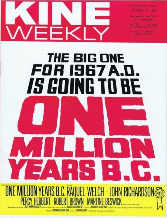 ONE MILLION YEARS B.C.BOX OFFICE USA 1967