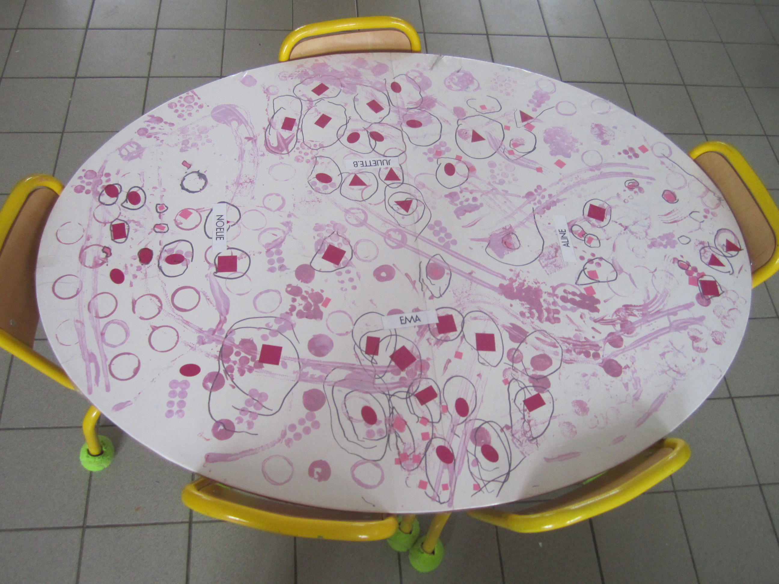 les nappes des tables la classe de marion. Black Bedroom Furniture Sets. Home Design Ideas