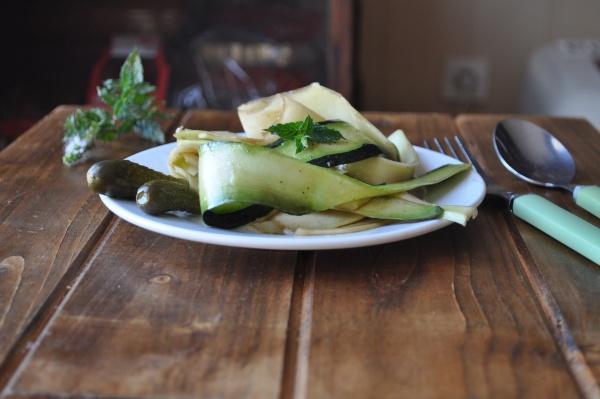 Salade de courgettes à la menthe