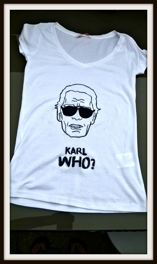 mon t-shirt karl Lagerfeld #fait main