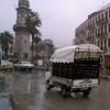 Alep - sous la pluie  - tour de l\'horloge