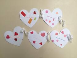 Petite carte coeur pour Maman