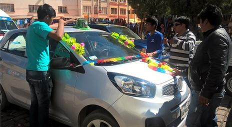 préaparation d'une voiture pour la cérémonie