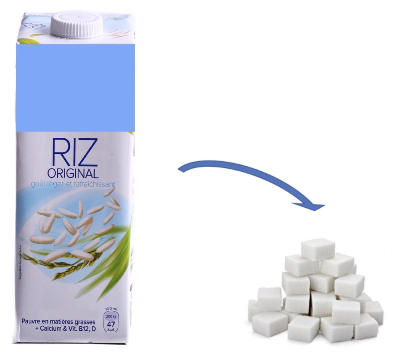 Riz Lait végétal trop sucré ! (ABF)