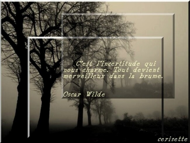 citation illustrée : la brume par oscar wilde