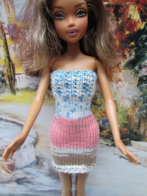 Robe et veste courte pour barbie