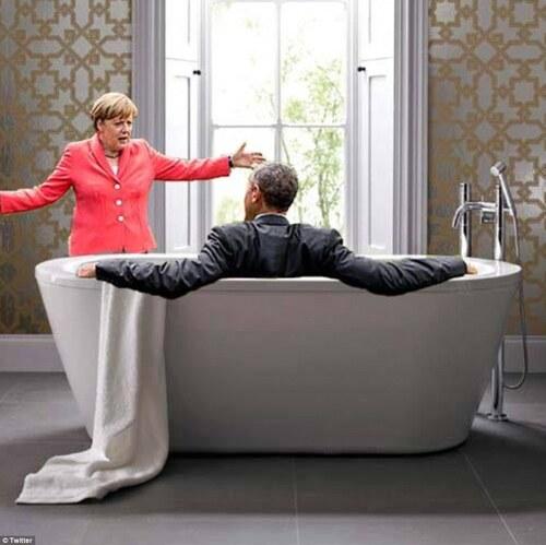 Barack Obama et Angela Merkel au G7