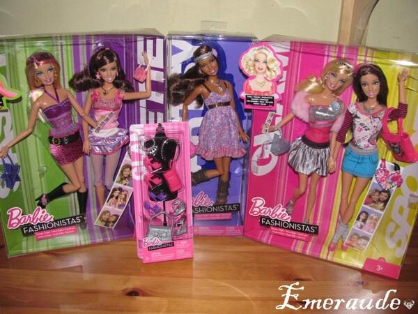 Barbie Fashionistas Sassy, Sweetie, Artsy, Glam, Sporty