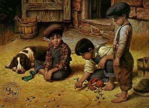Jeux d'enfants d'avant