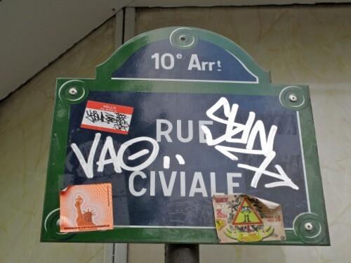 Plaque de rue sticker Civiale