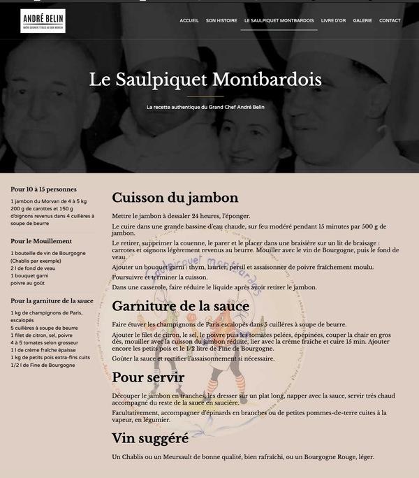 Un lecteur m'envoie la vraie recette d'André Belin  concernant le saupiquet Montbardois !