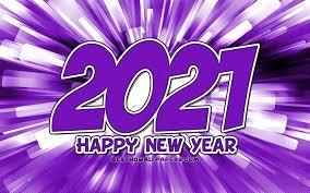 Télécharger fonds d'écran Bonne année 2021, 4k, rayons abstraits violets,  nouvel an 2021, chiffres violets 2021, concepts 2021, 2021 sur fond violet,  chiffres de l'année 2021 pour le bureau libre. Photos de bureau libre