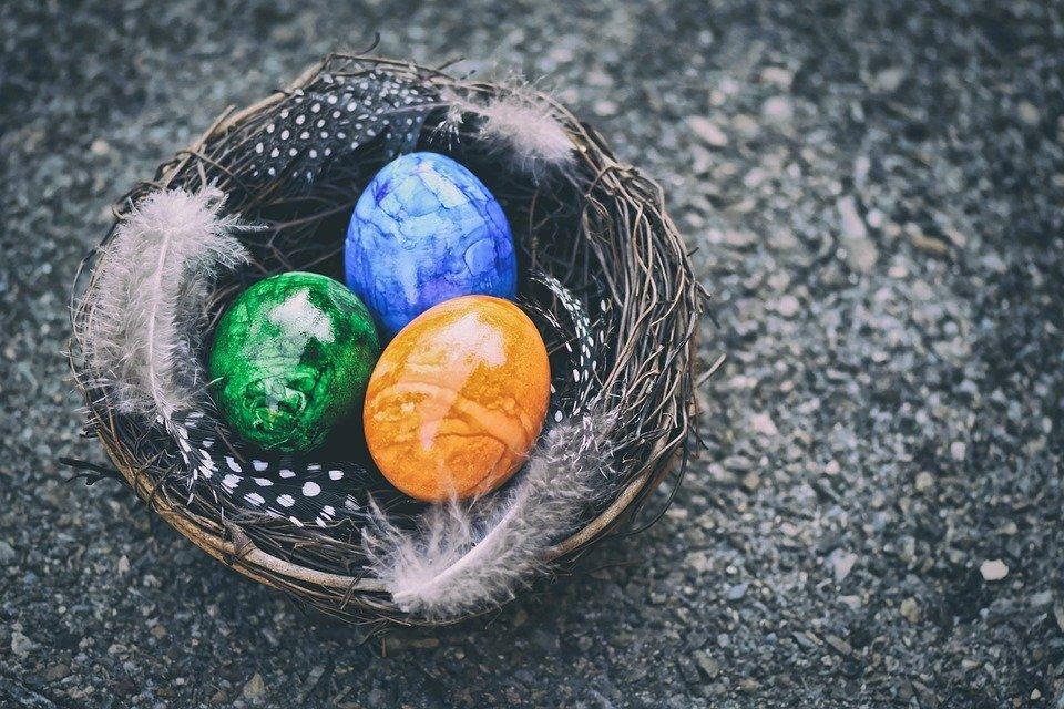 Oeufs De Pâques, Nid De Pâques, Pâques, Décoration