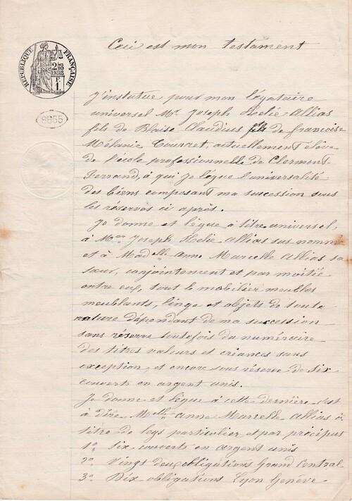 Testament 7/4/1902 - 1