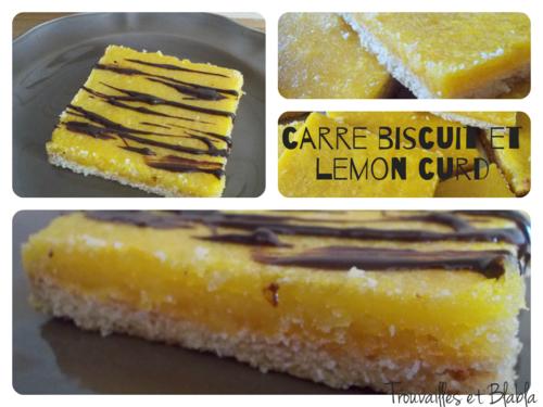 Carré biscuit sablé et lemon curd