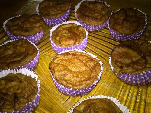 Muffin qui sent bon l'automne qui est là : potimarron/chataigne
