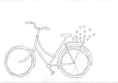 Dessin et peinture - vidéo 3122 : Peindre une bicyclette (nature morte) - aquarelle.