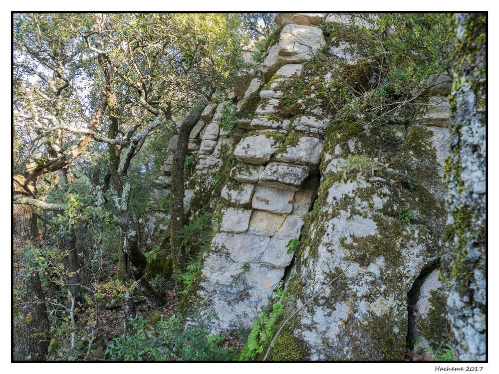Le Châtelard : rempart nord
