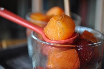 Salade fruits abricots-fraises à la fleur d'oranger